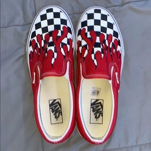 Vans Red flame checkered
